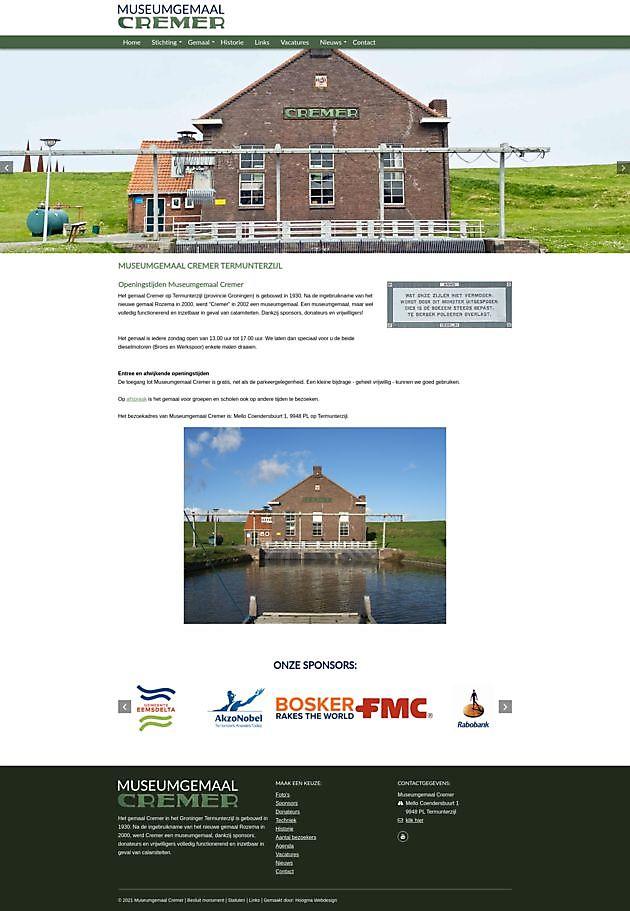 Nieuwe website - Museumgemaal Cremer Termuntenzijl