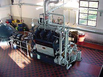 Brons dieselmotor Museumgemaal Cremer Termuntenzijl