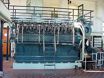 Werkspoor dieselmotor Museumgemaal Cremer Termuntenzijl