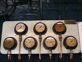 Instrumentenpaneel werkspoor Museumgemaal Cremer Termuntenzijl