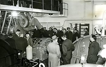 Gemaal Cremer 1971 vergroting capaciteit pompen 2 x 600 pk bronsmotor Museumgemaal Cremer Termuntenzijl
