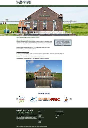 Nieuwe website Museumgemaal Cremer Termuntenzijl